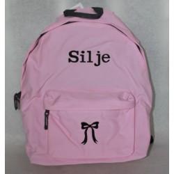 NATogVIC.dk lyserød skoletaske med navn på