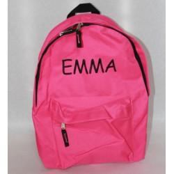Pink rygsæk med navn på