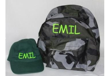 Army rygsæk og kasket