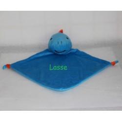 Cubbies blå Dino nusseklud med navn på