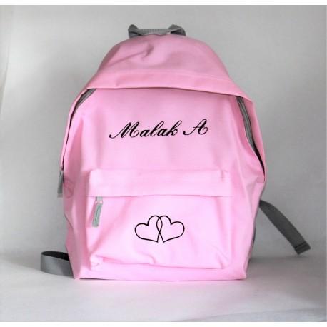 Lyserød junior rygsæk med navn på