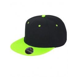 Sort og limegrøn SnapBack cap med navn på