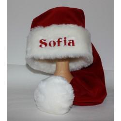 Luksus julehue med navn på - Julemandshue med navn