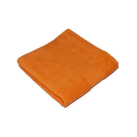 Orange badehåndklæde med navn på