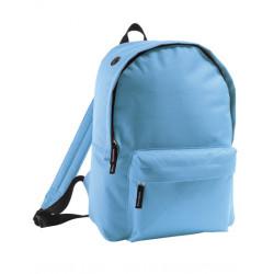 Lyseblå rygsæk