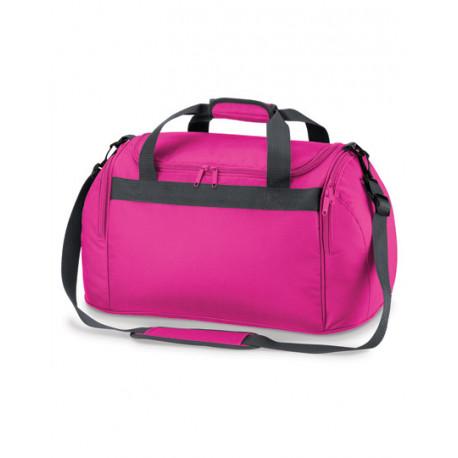 Pink sportstaske med navn på