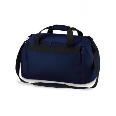 Mørkeblå sportstaske med navn på