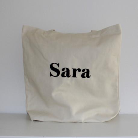 Canvaspose  med navn på