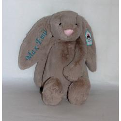 Stor Bashful kanin bamse med navn på