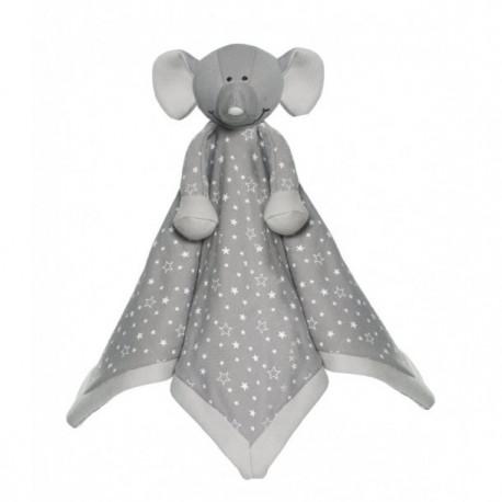 Teddykompaniet Økologisk elefant nusseklud med navn på