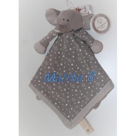 Teddykompaniet Økologisk elefant sutteklud med navn på