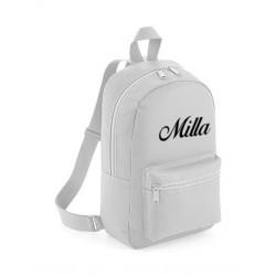 Grå Mini taske med navn på