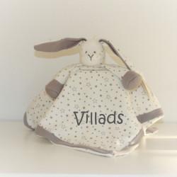 Teddykompaniet Økologisk kanin nusseklud med navn på