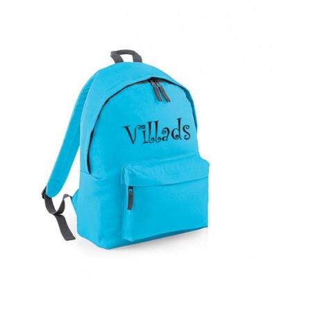Tyrkisblå junior rygsæk med navn på