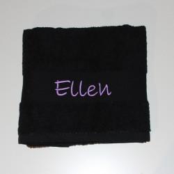 Bunt badehåndklæde med navn på