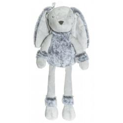 Teddykompaniet  grå Flufisser kaninbamse med navn på