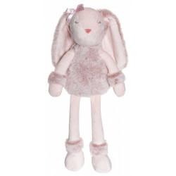 Teddykompaniet  rosa Flufisser kaninbamse med navn på