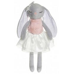 Teddykompaniet  grå Ballerinas kanin bamse med navn på