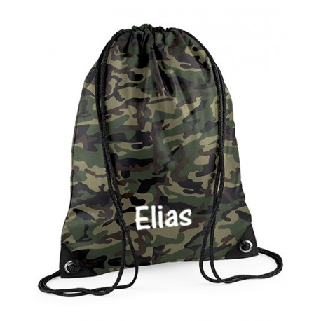 Army -Militær gymnastikpose med navn på