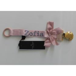 Elodie Details rosa sutteholder med navn på