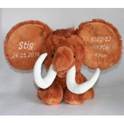 Cubbies Mammut bamse med navn