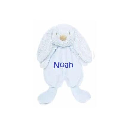 Teddykompaniet lolli bunnies lyseblå nusseklud med navn