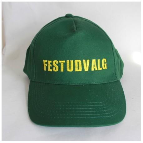 Caps i mørkegrøn med navn på
