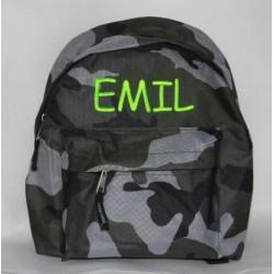 Army børnerygsæk med navn på