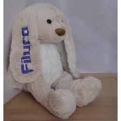 Stor Molly kanin bamse med navn på 42cm.