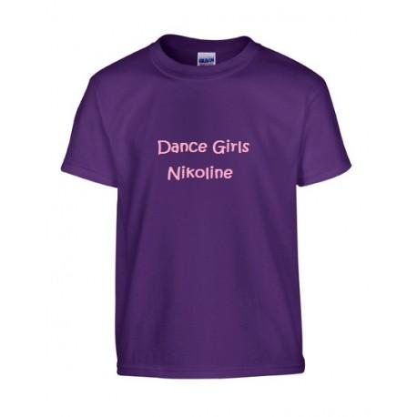 MørkeLilla børne T-shirt med tekst