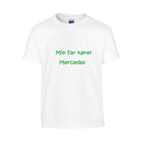 Hvid børne T-shirt med navn eller tekst påørne T-shirt