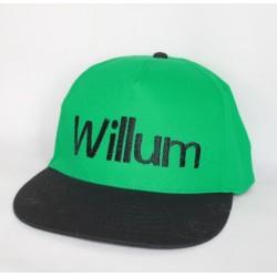 Grøn junior snapback cap med navn på