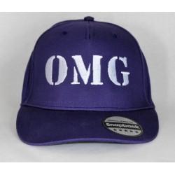 Lilla snapback cap med navn på